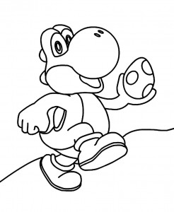 Yoshi Coloring Pages for Printable