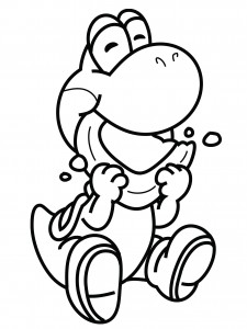 Yoshi Printable Coloring Pages