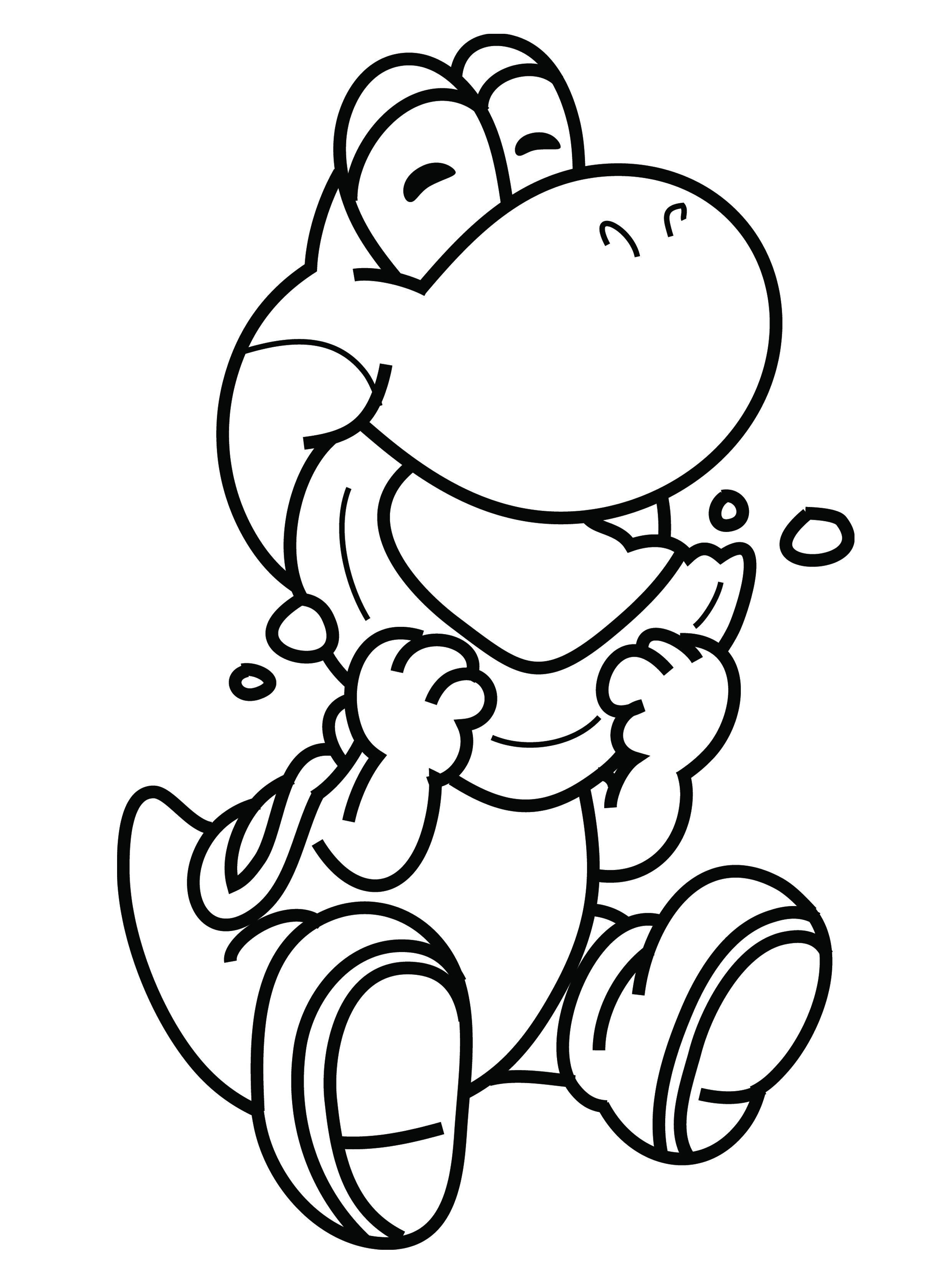 printable yoshi coloring pages coloring me