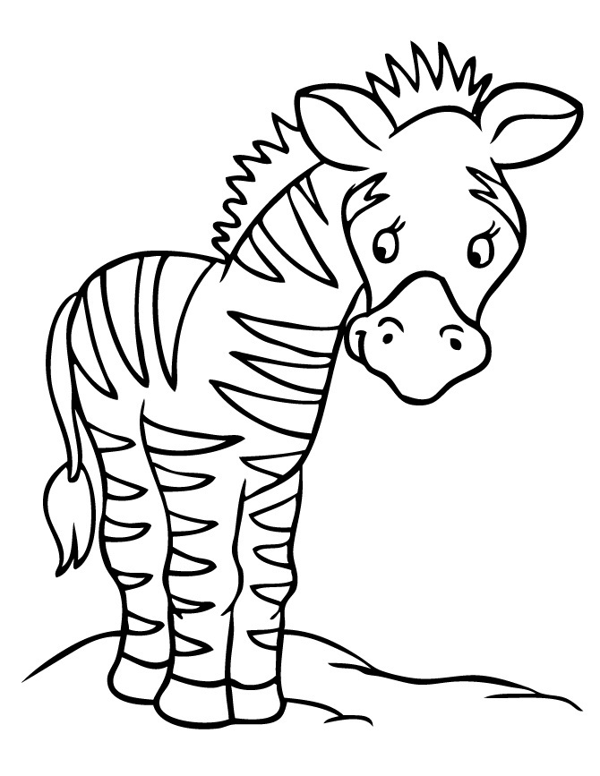 Free Coloring Pages Of Zebra Print A