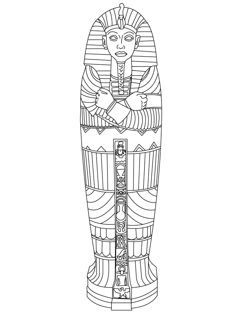 ancient egypt gods coloring pages