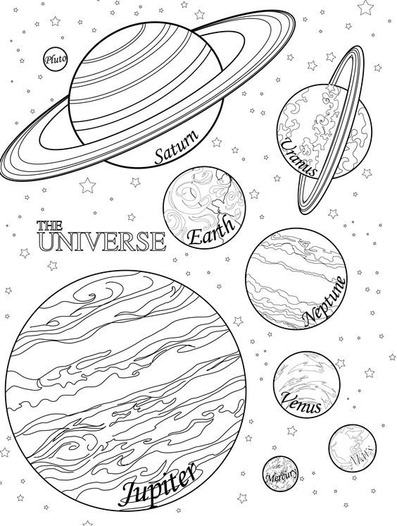 Printable Planet Coloring Pages | Coloring Me