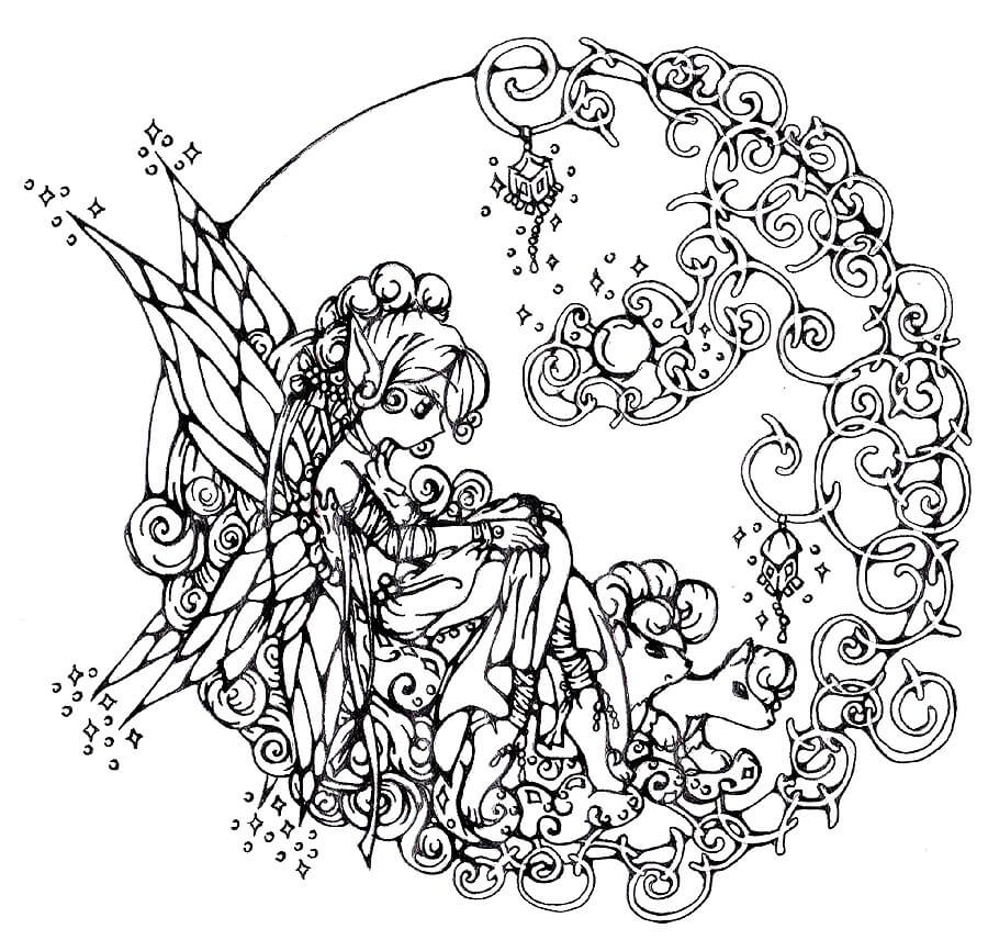 adult fantasy coloring pages - Fantasy Coloring Books For Adults