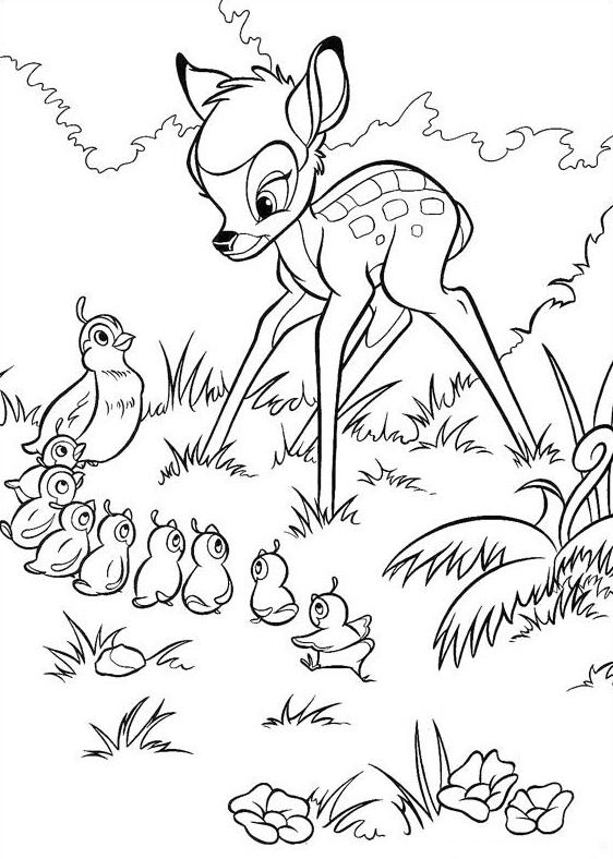 baby bambi coloring pages - Bambi Coloring Pages