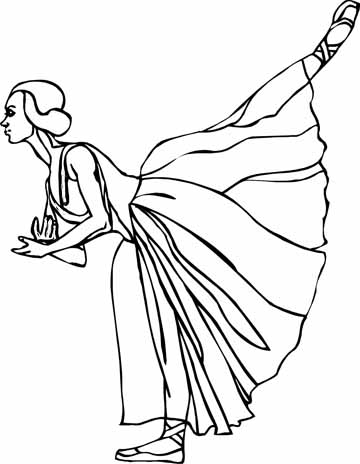 Free coloring pages ballet shoes coloring pages for Free ballet coloring pages