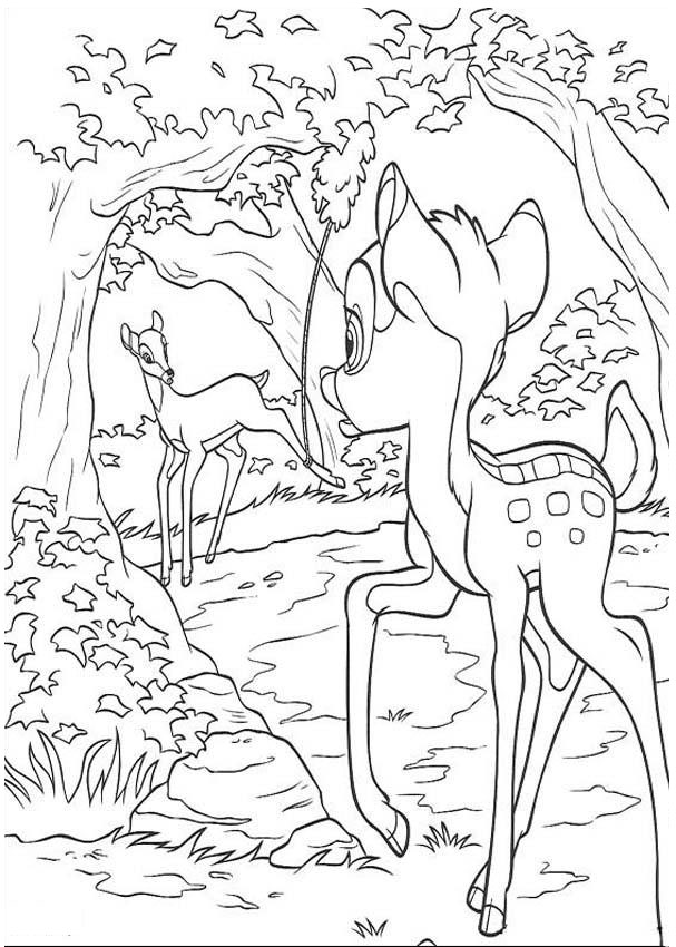 Printable Bambi Coloring Pages Coloringme Com