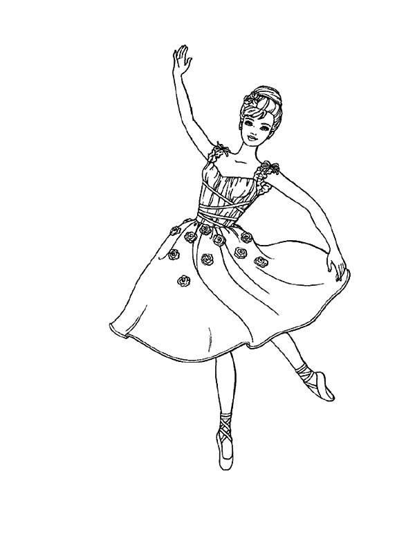 Ballerina tutu coloring pages print murderthestout for Printable dance coloring pages