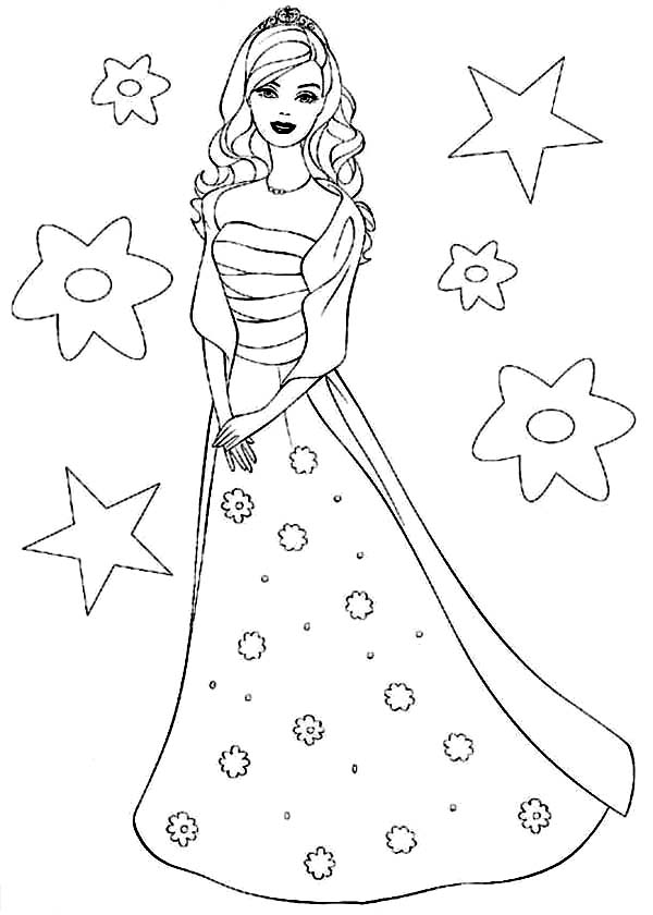 Printable Barbie Princess Coloring Pages Coloring Me Princess Coloring Sheets Free Printable Printable