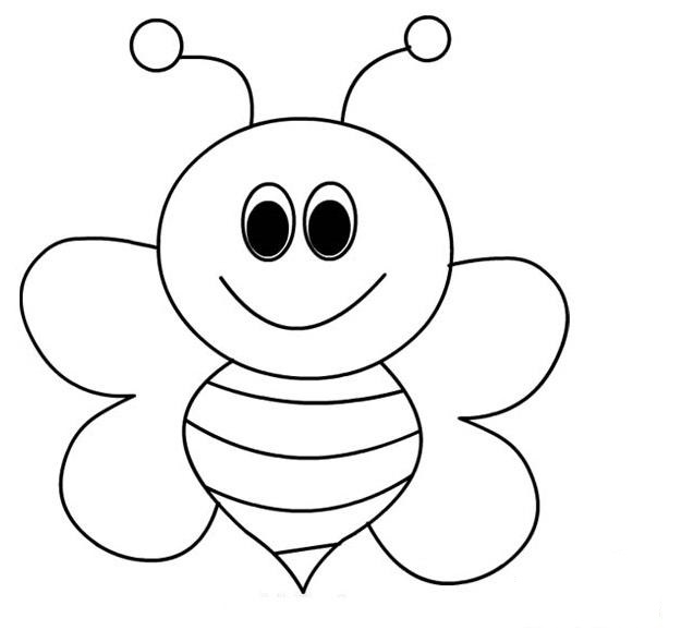 Bee Coloring Pages For Kids