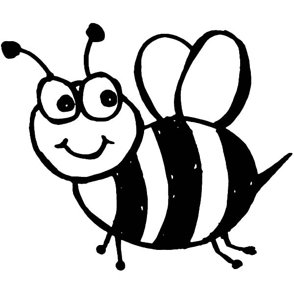 Bee Coloring Pages - GetColoringPages.com | 600x600