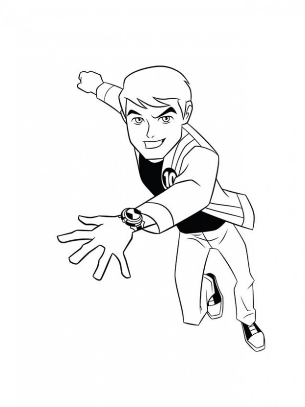 Ben Ten Coloring Sheets