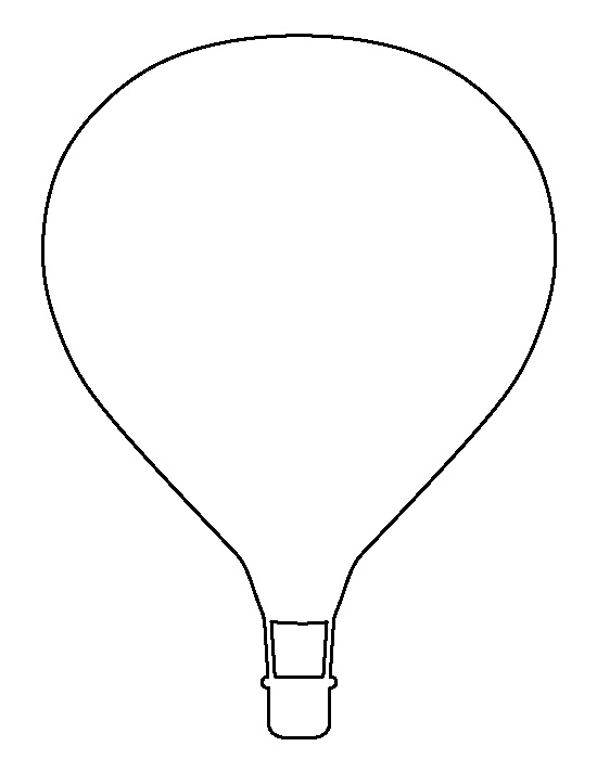 blank hot air balloon coloring page