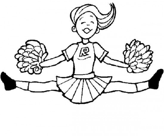 Cheerleading Coloring Pages 20 Best Cheerleading Coloring Pages ... | 457x550