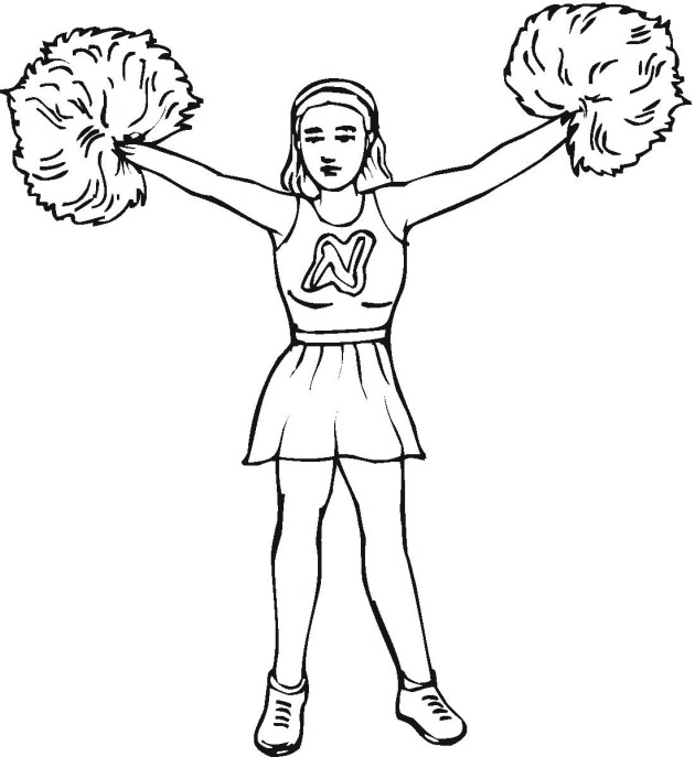 cheerleaded coloring pages - photo#31