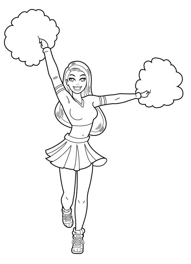 Cheerleading Coloring Pages For Kids. Print and Color the Pictures ... | 857x620