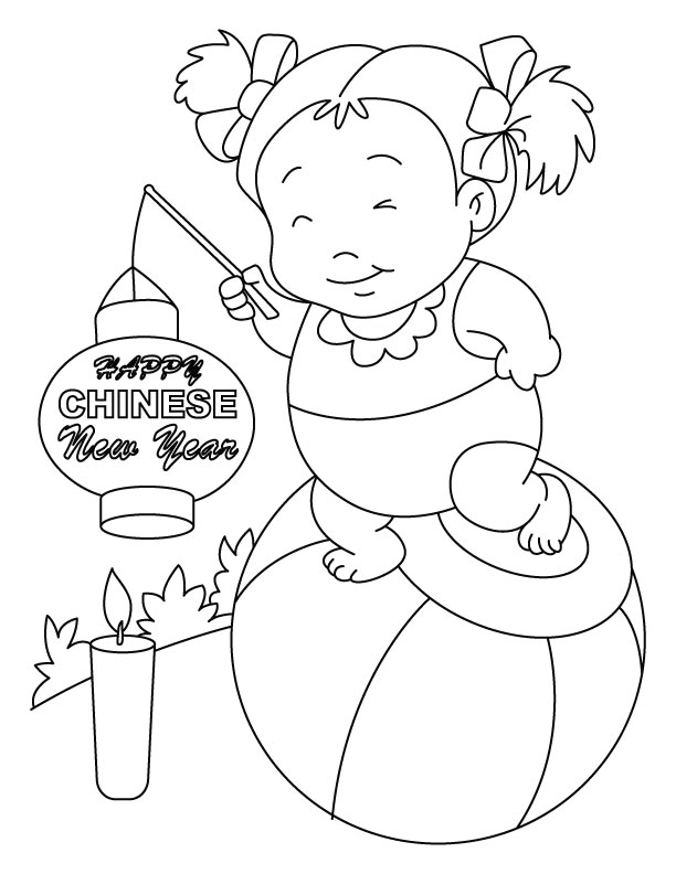Free Colouring Pages Chinese New Year : Chinese new year coloring pages free