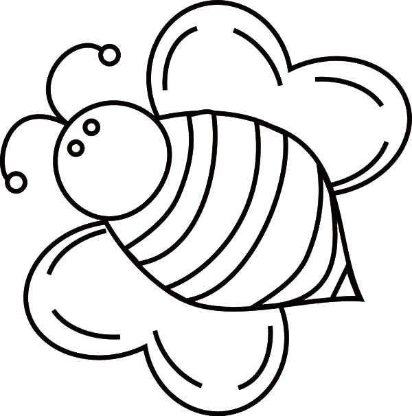 Bee Coloring Sheets Color Page