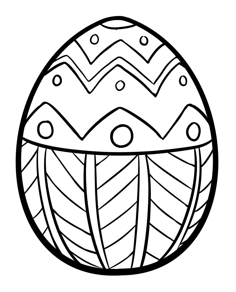 coloring pages easter eggs - Easter Egg Coloring Pages