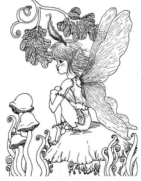 Printable Fantasy Coloring Pages Coloringme Com