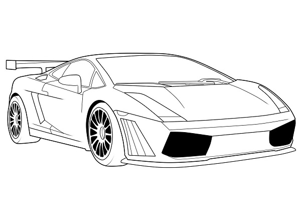 coloring pages lamborghini - Lamborghini Veneno Coloring Pages