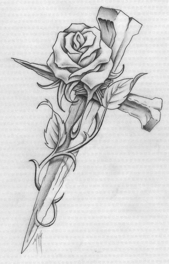 Cross with Roses Coloring Pages | Coloring Me