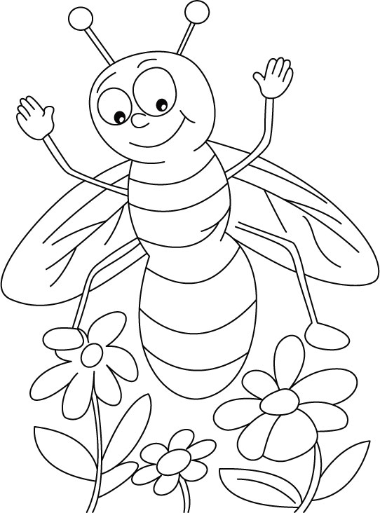 honey bee coloring pages - photo #19