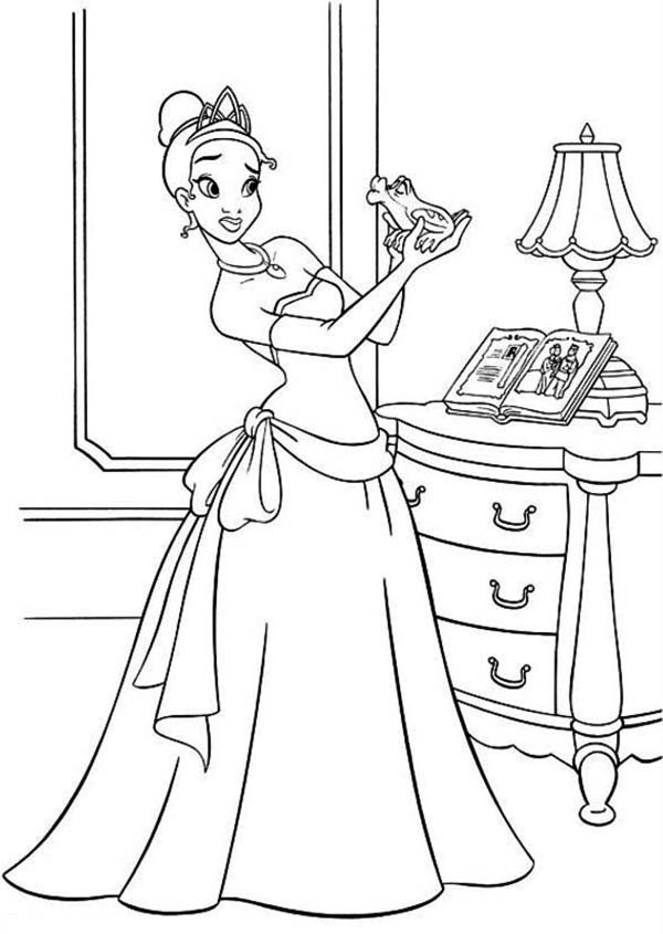 princess and the frog coloring sheets