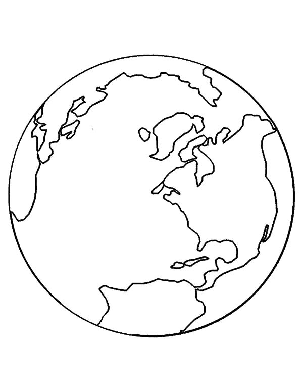 coloring pages world globe - photo#36