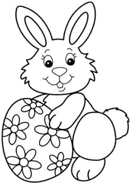 easter coloring pages easter bunny - photo#12