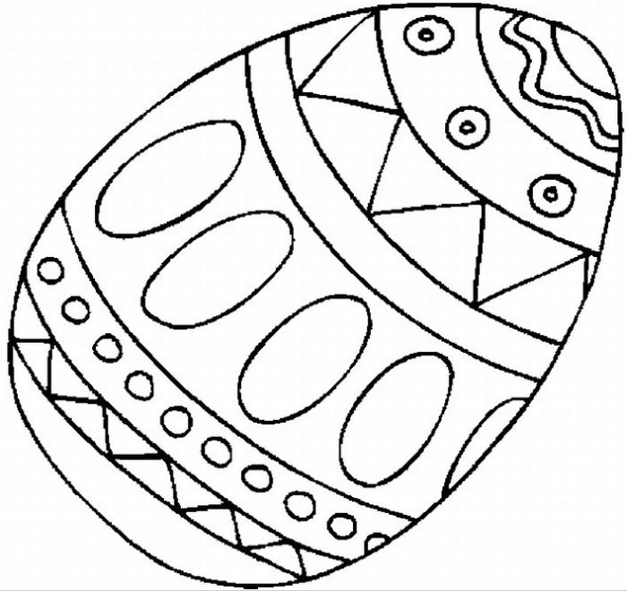 Easter Eggs Coloring Sheets