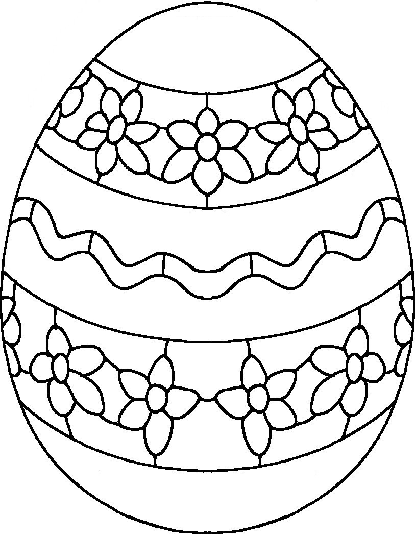 Easter egg coloring pages - Easter Eggs Coloring Sheets