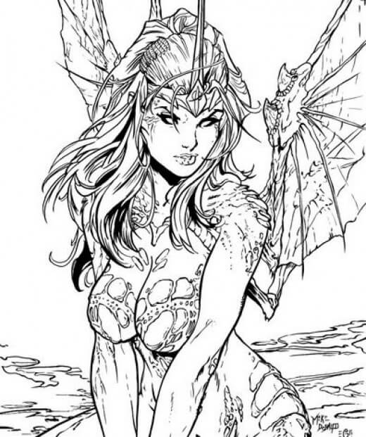 fantasy coloring pages online - photo#7