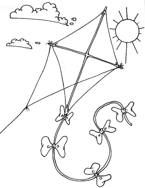 Kite Colouring In Pages Alltoys for
