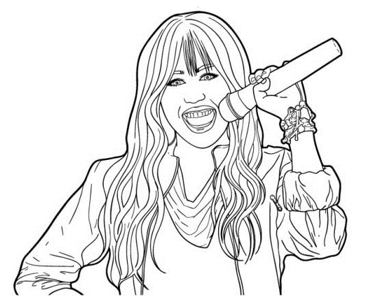 hannah montanta coloring pages - photo#18