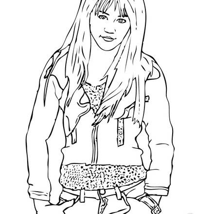 Printable Hannah Montana Coloring Pages
