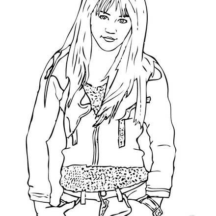 Hannah Montana Coloring Sheets