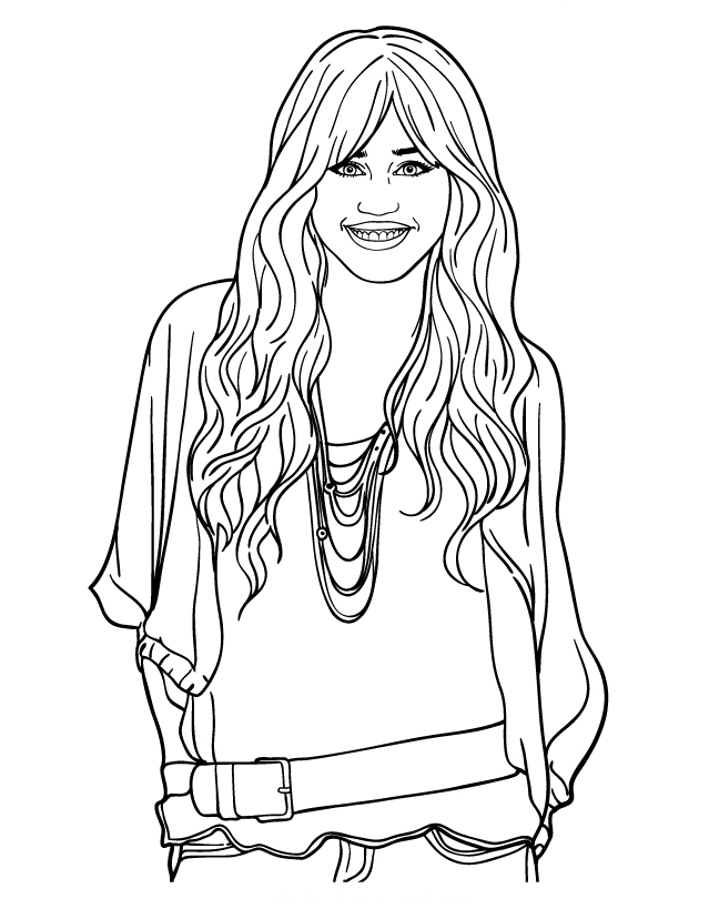 printable hannah montana coloring pages - photo#1