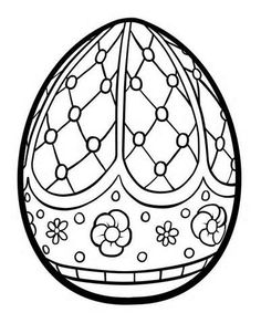 Hard Easter Eggs Coloring Pages
