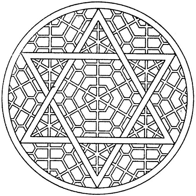 Printable Kaleidoscope Coloring Pages
