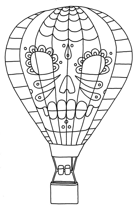 Printable Hot Air Balloon Coloring Pages Coloring Me Air Balloon Colouring Page