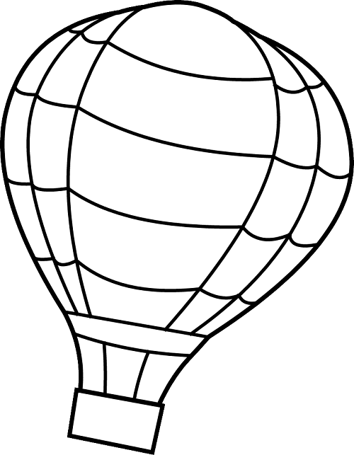 Line Drawing Of Balloons - Balloon Coloring Pages, HD Png Download ... | 643x500