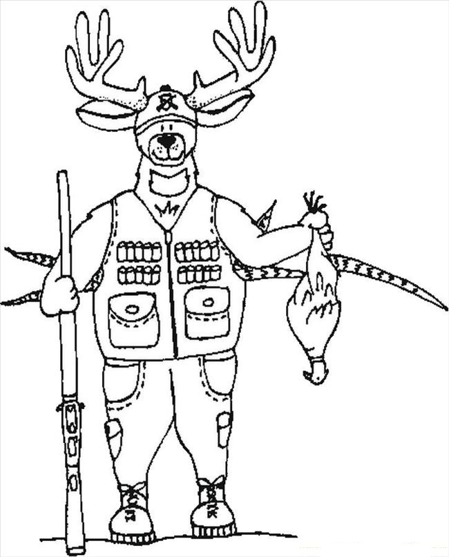 hunting coloring sheets