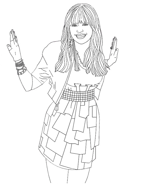 printable hannah montana coloring pages - photo#5