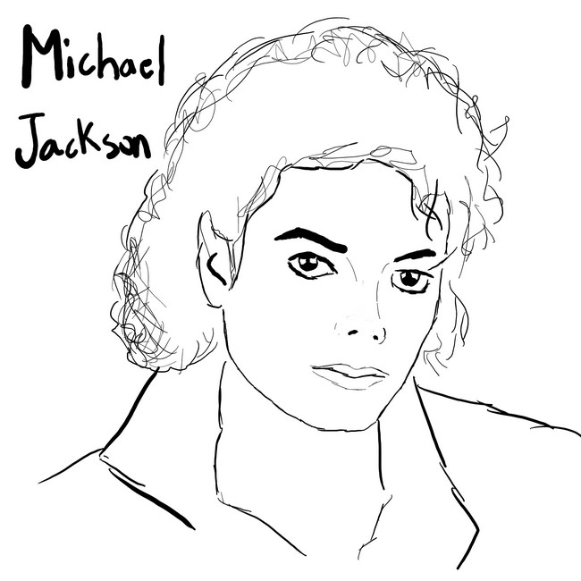 michael jackson coloring sheets