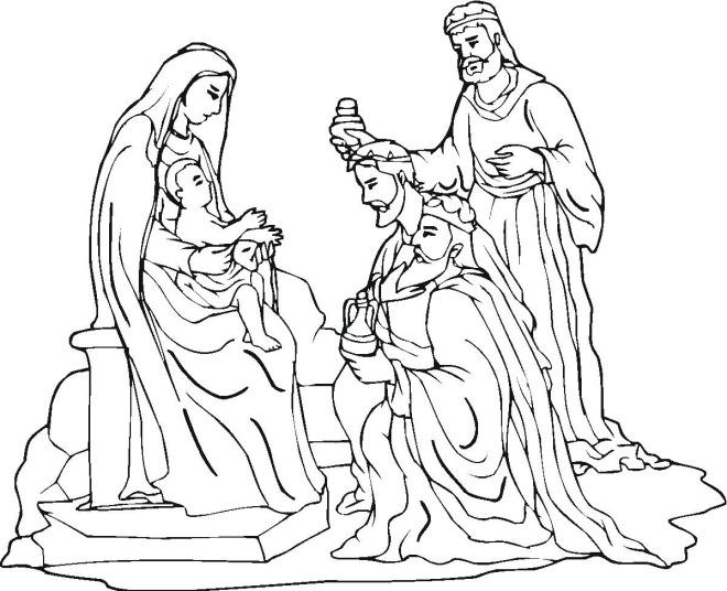 nativity scene coloring sheets