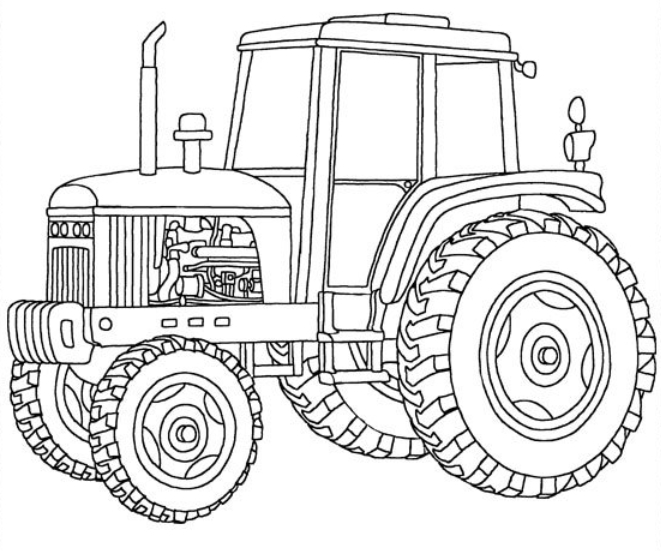 Awesome John Deere Tractor Coloring Pages Pictures Coloring Page