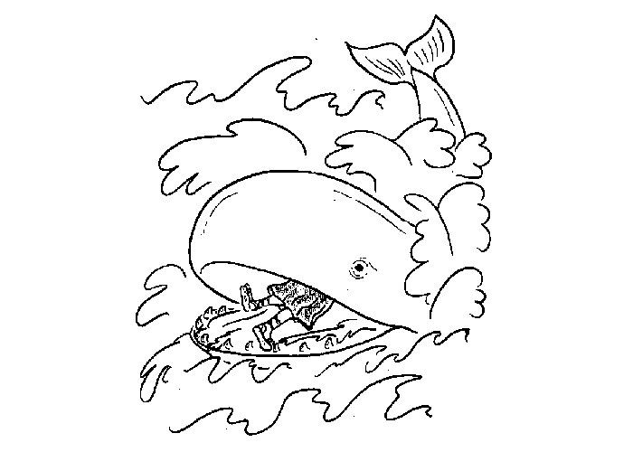 Free jonah whale coloring pages murderthestout for Jonah bible coloring pages