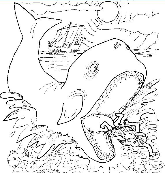 Jonah And The Whale Coloring Pages Pictures