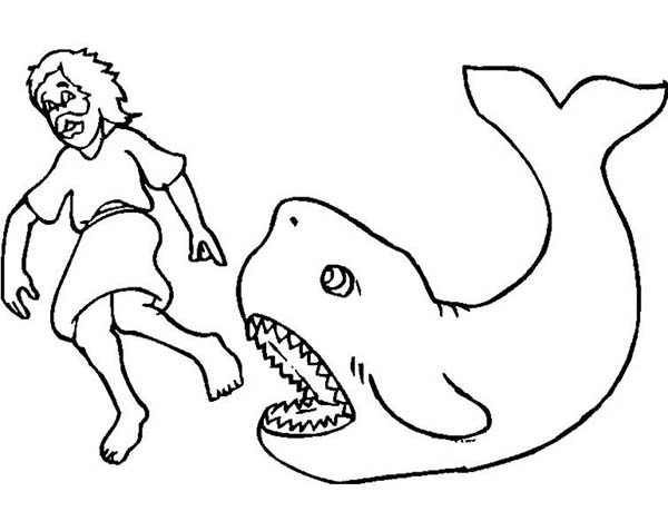 graphic regarding Free Printable Jonah and the Whale Coloring Pages titled Printable Jonah and the Whale Coloring Internet pages