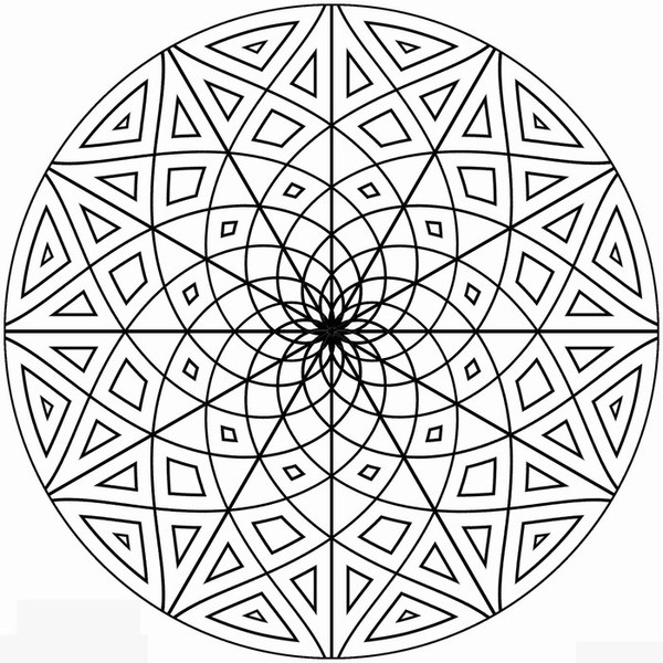 printable kaleidoscope coloring pages coloring me